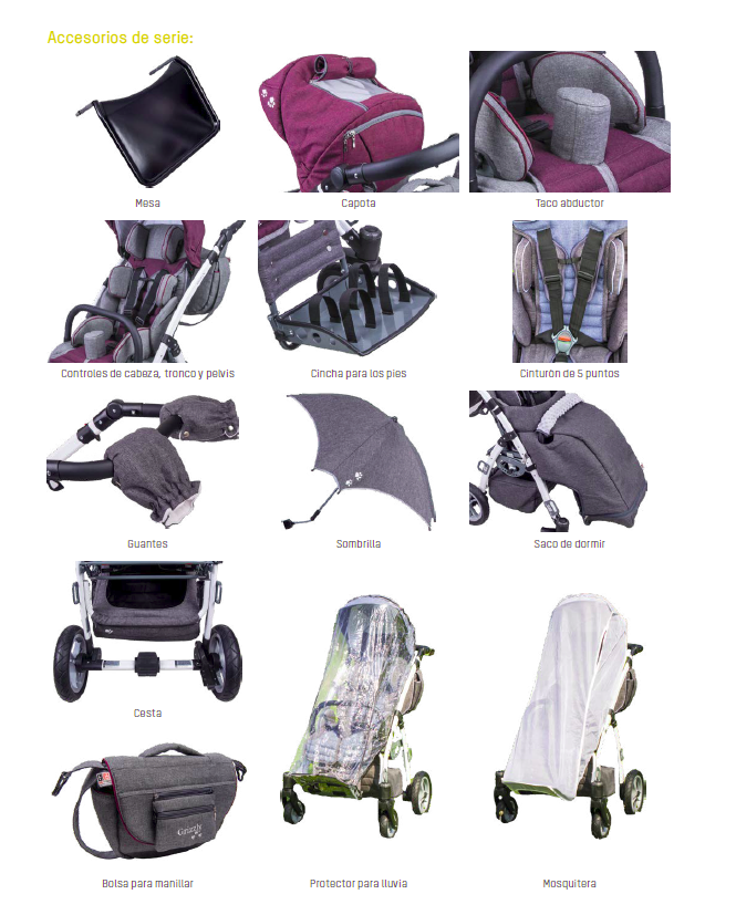 accesorios silla infantil Grizzly
